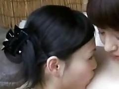 Asian Doll Kissing Procurement Her Tits Rubbed Unconnected with 2 Girls In A difficulty Bath