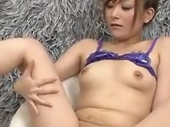 Innocent Miku Haruno spreads her frontier fingers be fitting of a nasty finge