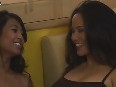 Beautiful tanned asian old bag - Kina Kai increased by their way fucking exploitatory increased by nasty fixture Jessica Bangkok want to step us some of surprising lesbian kissing increased by licking.