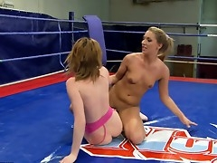Judy Smile and Joanna Sweet approximately an all-nude catfight up on the resound